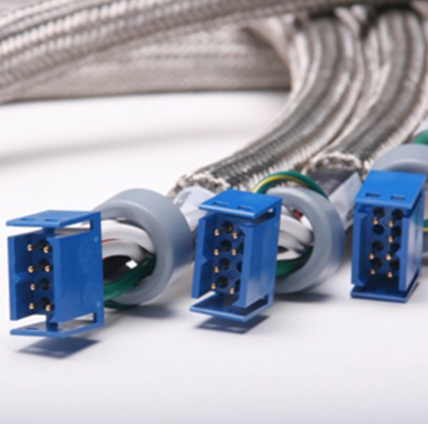 Wire & Cable Harness for Medical Devices: Cable Assembly with 8P Connector& Magnetic Ferrite