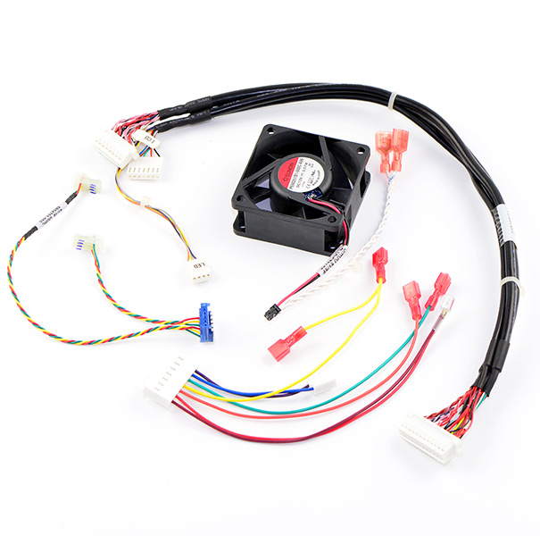 Wire & Cable Harness for Medical Devices;124162/146332/351023, Cable Assembly with 3~4~6~7P Connector&Fan&LED