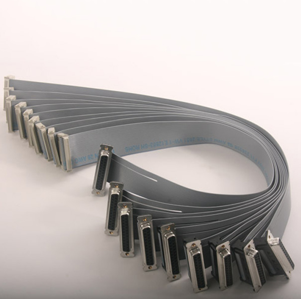 Wire & Cable Harness for Industrial Products;119326-01/04,Flat cable with 25~26P  D-Sub Connector